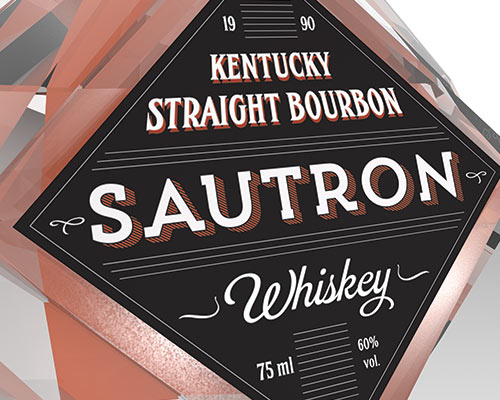 3D Whiskey Bourbon